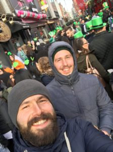 Me and My Bro Celebrating St. Patty's Day in Dublin!