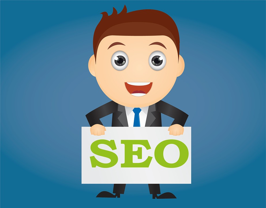 Cartoon Character Holding SEO Letters