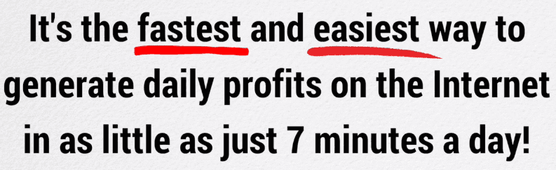 7 Minutes Daily Profits Scam