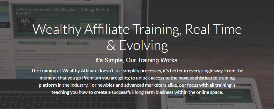 Wealthy Affiliate Training, Real Time & Evolving