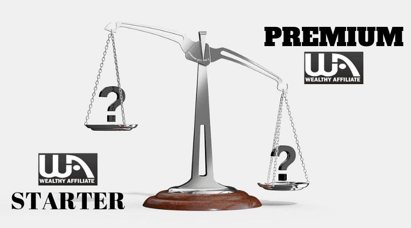 Wealthy Affiliate Starter or Premium