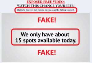 Easy Retired Millionaire Review - Fake Scarcity