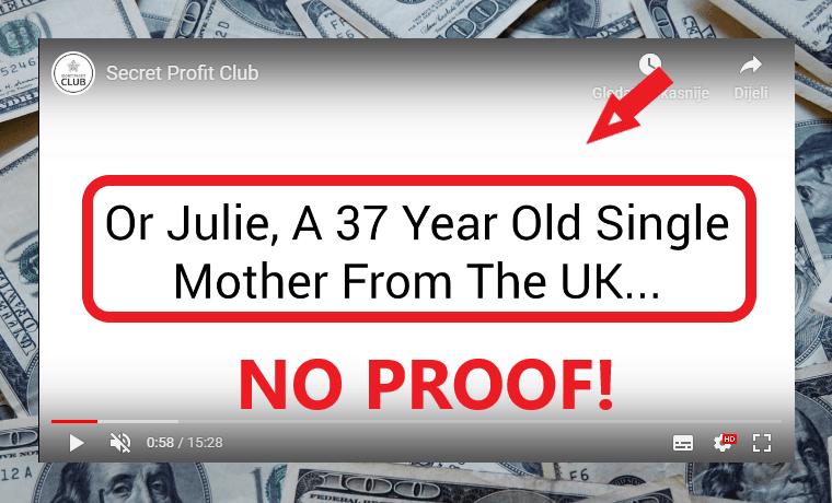 Secret Profit Club Review - Fake Testimonials