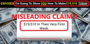 Secret Profit Club Review - Misleading Income Claims