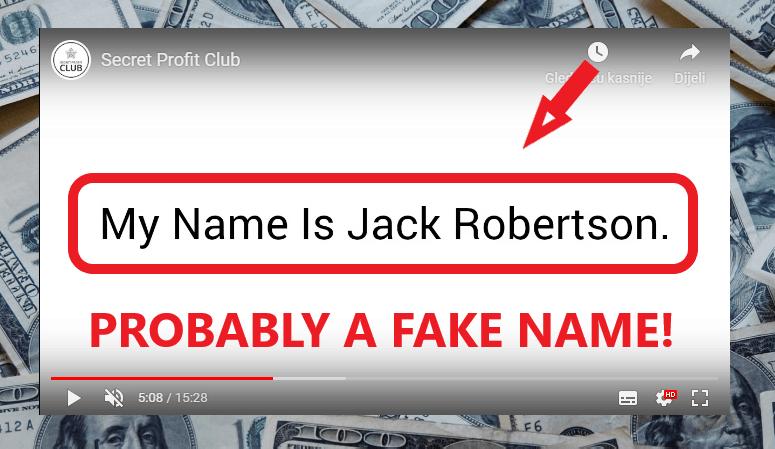 Secret Profit Club Review - Fake Owner
