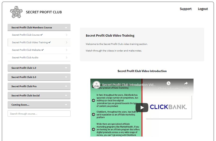 Secret Profit Club Review - The Program