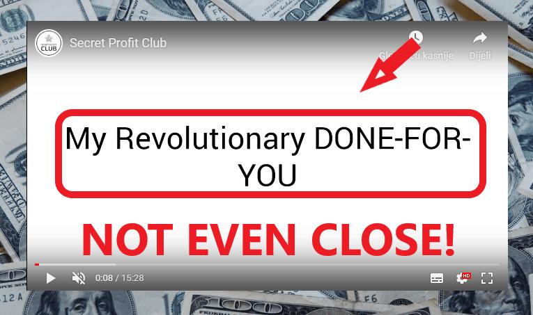 Secret Profit Club Review - Not DFY