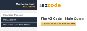 AZ Code Main Dashboard
