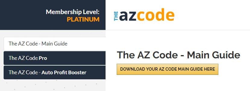 AZ Code Main Dashboard