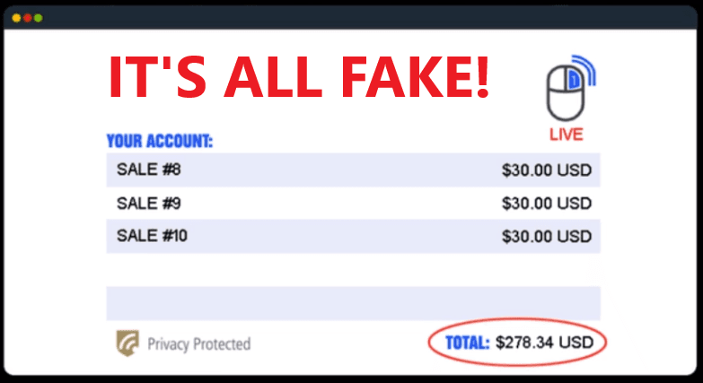 One Click Payday Review - Fake Account