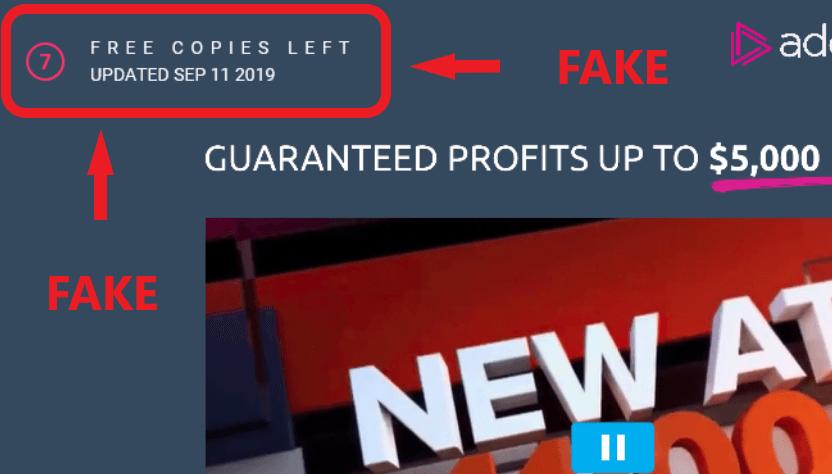 AD Code Scam Fake Widget
