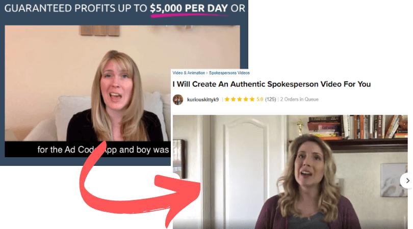 AD Code Scam Fake Testimonial