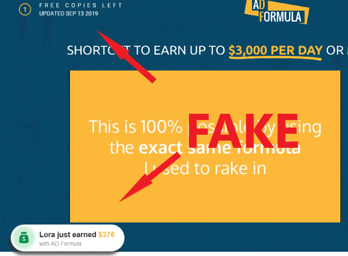 AD Formula Scam Fake Widgets