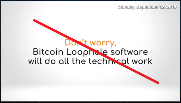 Bitcoin Loophole Scam Sales Page