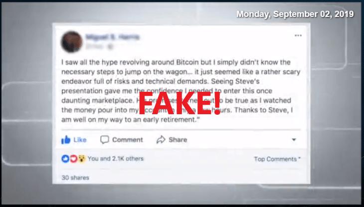 Bitcoin Loophole Scam Fake Testimonial