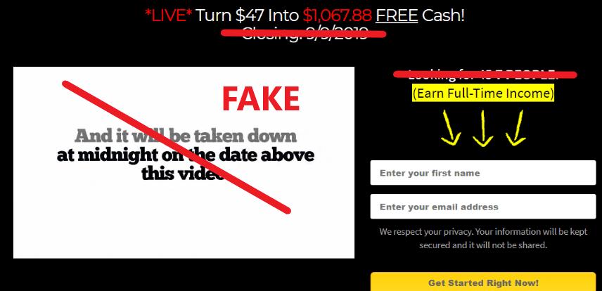 Millionaire Bizpro Fake Scarcity