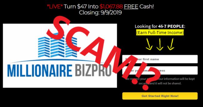 Millionaire Bizpro Review - Scam