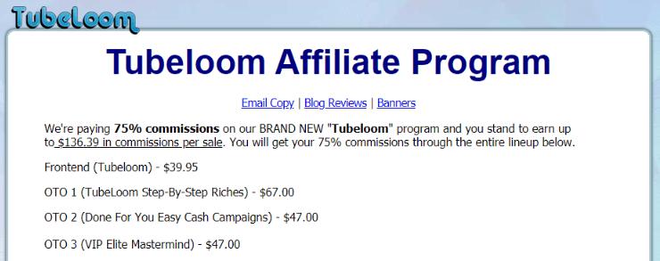 TubeLoom Review - Price and Affiliate Program