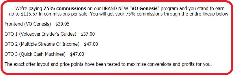 VO Genesis Affiliate Program