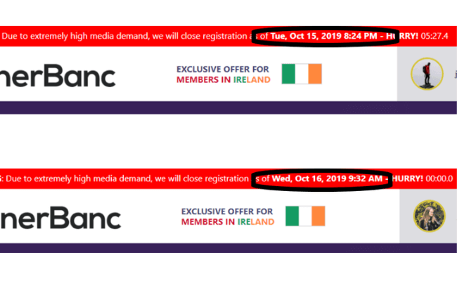 Banner Banc Review - Fake Scarcity