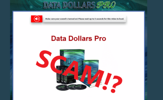 Data Dollars Pro Review - Scam