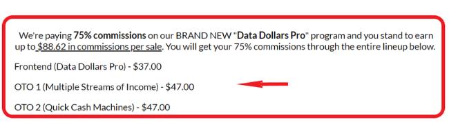 Data Dollars Pro Upsells