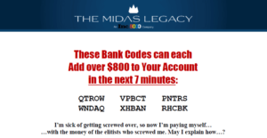 The Midas Legacy Codes