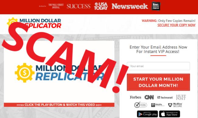 Million Dollar Replicator Review - Scam