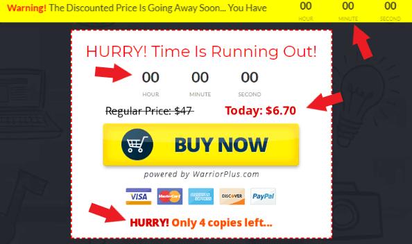 Easy Profit Secrets Fake Scarcity