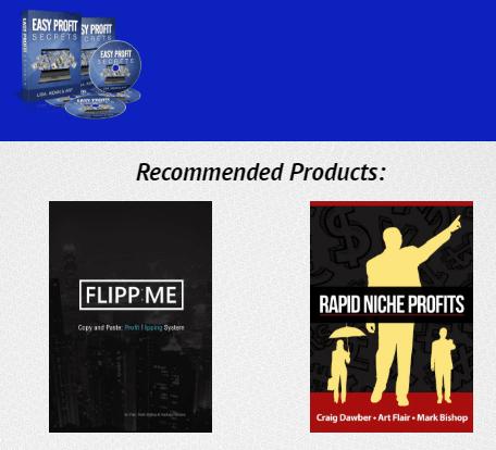 Easy Profit Secrets Products