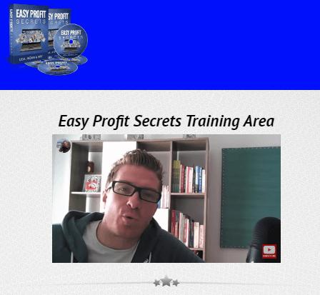 Easy Profit Secrets Training Area