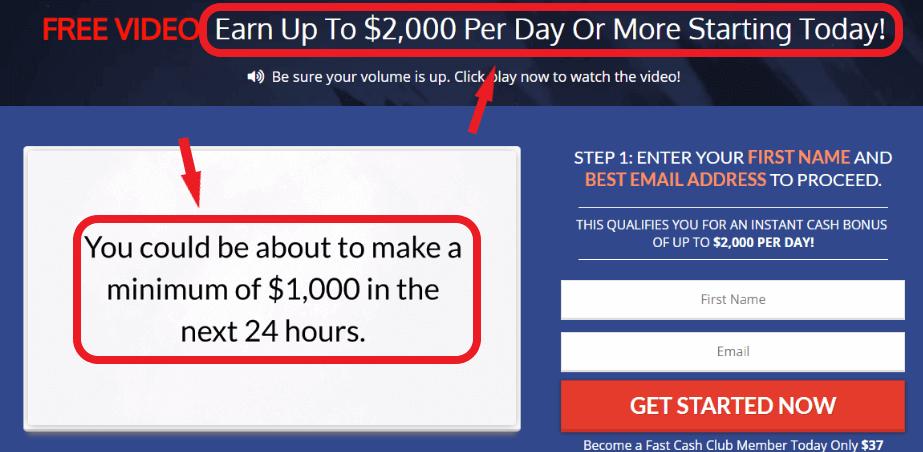Fast Cash Club Scam Claims