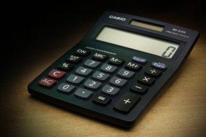 Calculator Showing Zero Money
