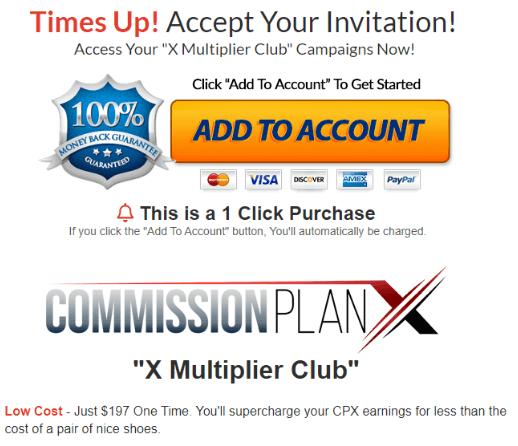 Commission Plan X - Hidden Upsell