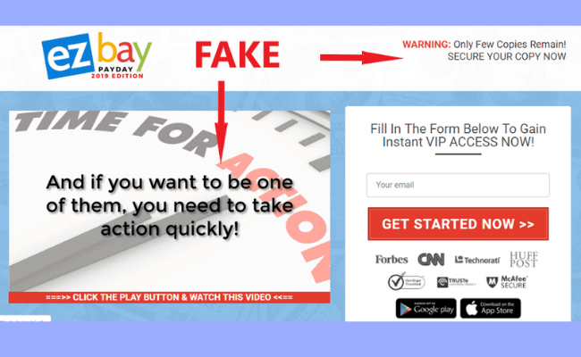 EZ Bay Payday Fake Pressure