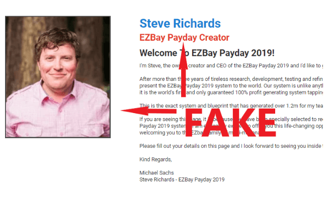 EZ Bay Payday Steve Richards