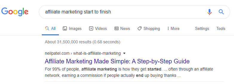 Google Search Results in Real Time