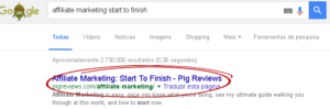 Profit Page Review - Fake Google Results