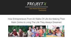 Project X Entrepreneurs Description