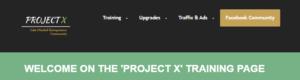 Project X Entrepreneurs Training