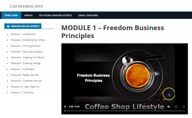 Coffee Shop Millionaire Review - Inside Members Area