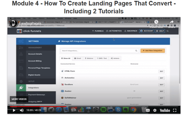 Commission Blueprint Review - Creating Landing Pages