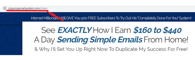 Copy My Email System Scam Site
