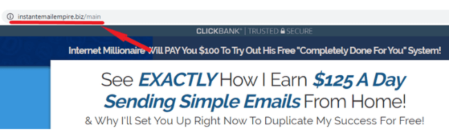 Copy My Email System Scam Site #2