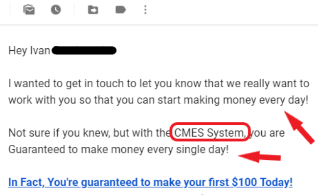 Copy My Email System Scam
