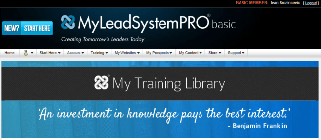 My Lead System Pro Dashboard