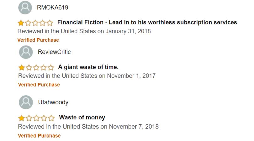 10 Minute Millionaire Insider - Negative Customer Reviews