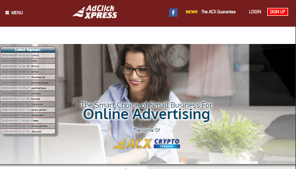 Profit Clicking Redirects to Ad Click Xpress Scam