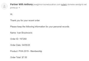 Partner With Anthony - My Receipt