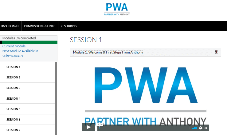 Partner With Anthony - Training Modules